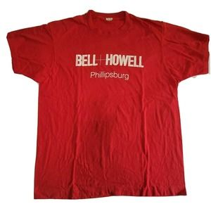 VTG 80s BELL + HOWELL Graphic SINGLE STITCH Tee